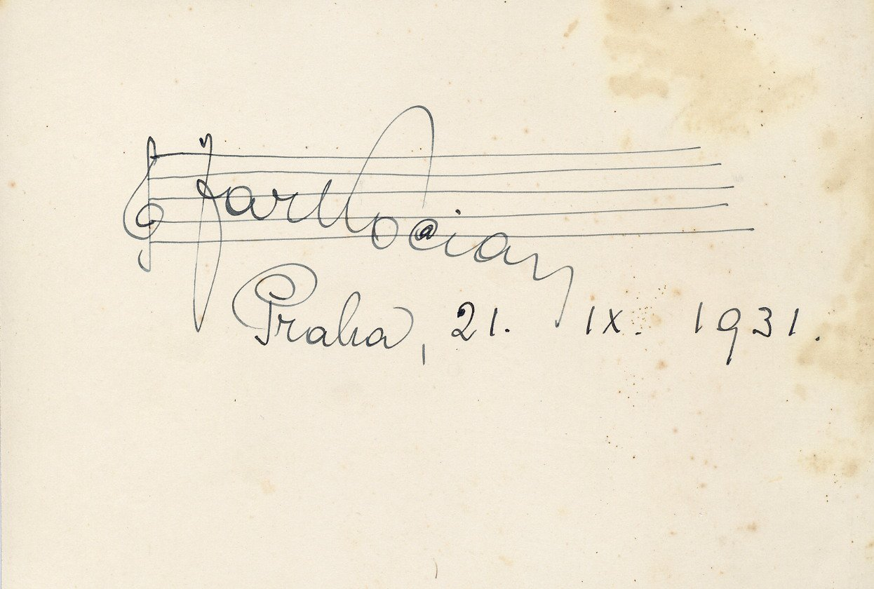 Legendary Czech Violinist & Composer JAROSLAV KOCIAN Autographed Card 1931
