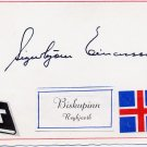 1959-81 Bishop of Iceland SIGURBJORN EINARSSON Hand Signed Card 1970s
