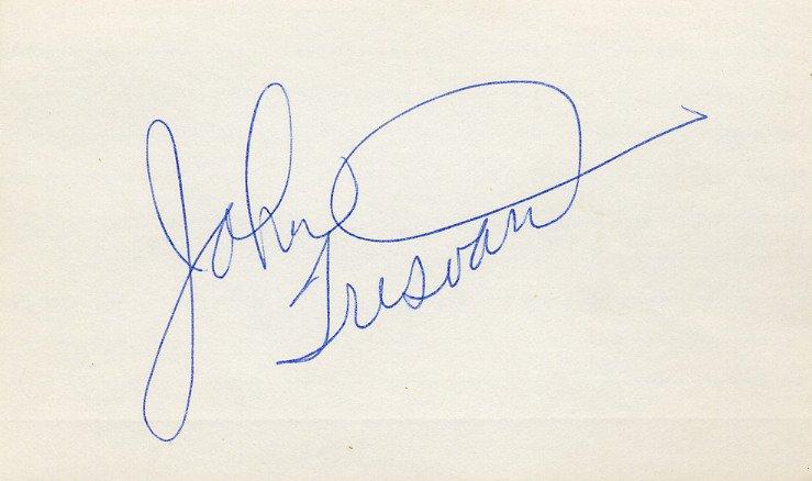 Basketball NBA 1964-73 Hawks Pistons Royals SuperSonics Bullets JOHN TRESVANT Autograph 1970s