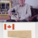 1949 Ice Hockey World Championships Silver BILL DIMOCK Autograph Cut 1949 & Pict