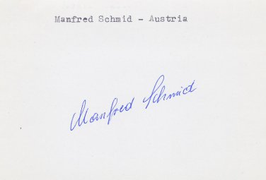 1968 Grenoble Olympics Luge Gold MANFRED SCHMID Autograph 1980s