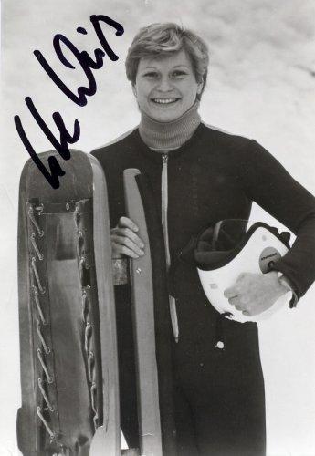 1984 Sarajevo & 1988 Calgary Luge Medalist UTE WEISS Hand Signed Photo 1984