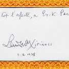 Catalan Politician LLUIS MARIA XIRINACS Autograph Note Signed from 1978