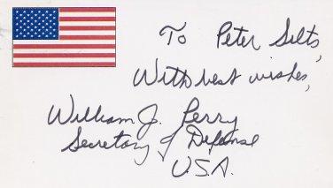 timeless design 6c1c9 61f19 1994-97 Secretary of Defense w/ Clinton WILLIAM PERRY ...