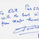 French Writer & Humorist PIERRE DANINOS Autographed Card 1980s