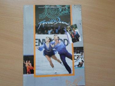 Multiple Signed Torvill & Dean Ice Skating World Tour Program from 1986