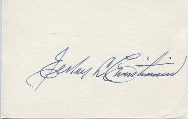 Gen Authority of Latter-day Saints Church ELRAY L. CHRISTIANSEN Autograph 1960s