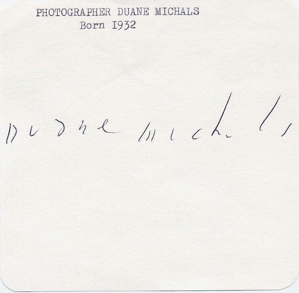 American Photographer DUANE MICHALS Autograph from 1970s