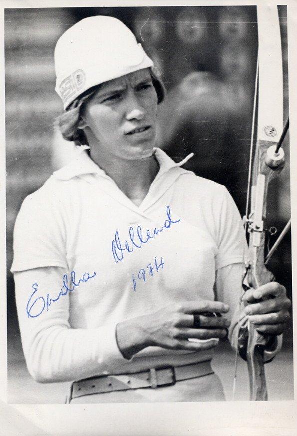 1974 Archery European Champion ENDLA VELLEND Hand Signed Photo 1974
