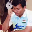 Indian Chess Grandmaster SURYA SHEKHAR GANGULY Hand Signed Photo 4x6