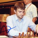Russian Chess Grandmaster NIKITA VITIUGOV Hand Signed Photo 4x6