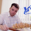 Russian Chess Grandmaster ALEKSEY GOGANOV Hand Signed Photo 4x6