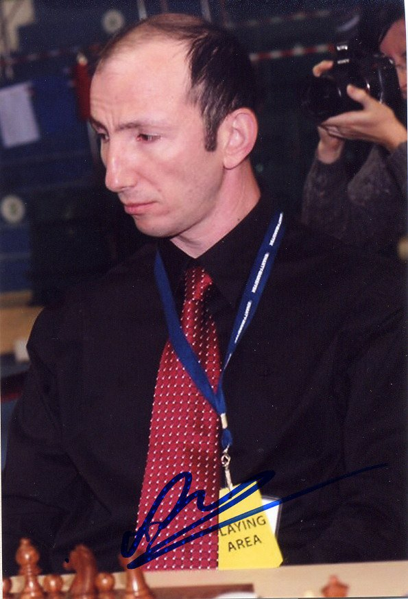 Israel - Chess Grandmaster VICTOR MIKHALEVSKI Hand Signed Photo 4x6