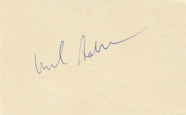 Tennis - 1976 French Open Finalist HAROLD SOLOMON Autographed Card 1970s