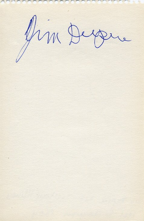 1960s Southern Illinois Track and Field Star JIM DUPREE Autograph 1960s