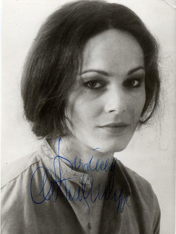 Austrian Actress CHRISTINE BUCHEGGER Hand Signed Photo 4x5,5