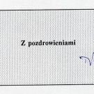 1989-91 Prime Minister of Poland TADEUSZ MAZOWIECKI Autograph 1994