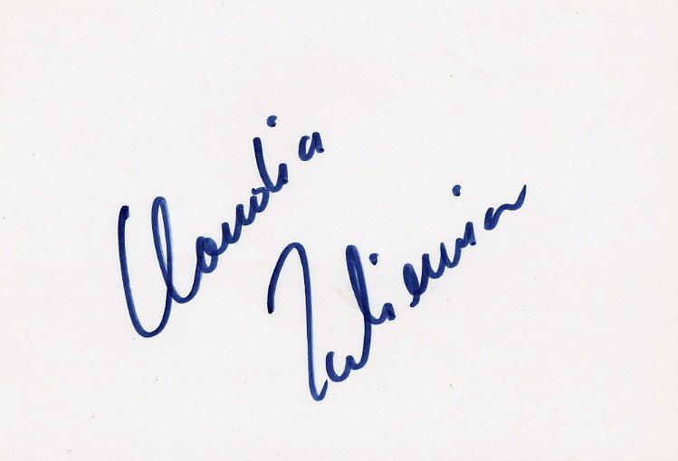 1988 Seoul Athletics 100m Hurdles Bronze CLAUDIA ZACKIEWICZ Autograph 1980s