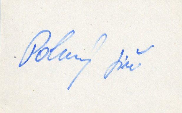 1980 Moscow Cycling Bronze JIRI POKORNY Autograph 1980s #2