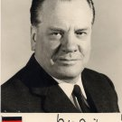 Germany - 1965-68 Minister of Interior PAUL LÜCKE Hand Signed Photo 1966