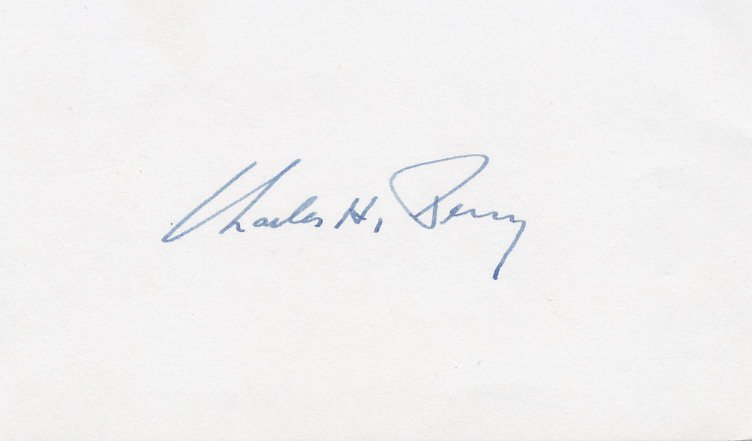 United States Senator from Illinois CHARLES H. PERCY Autographed Card 1970s
