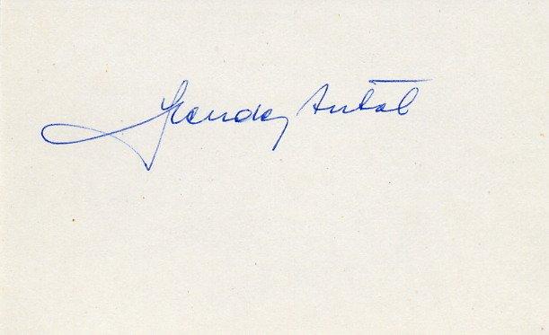 1948 London Olympics Rowing Bronze ANTAL SZENDEY Autograph 1980s #3