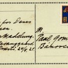 Danish Writer AAGE MADELUNG Autograph Note Signed 1921