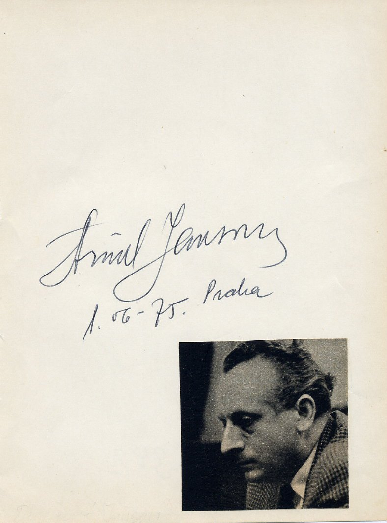 Leading Latvian Conductor ARVIDS JANSONS Autograph from 1975
