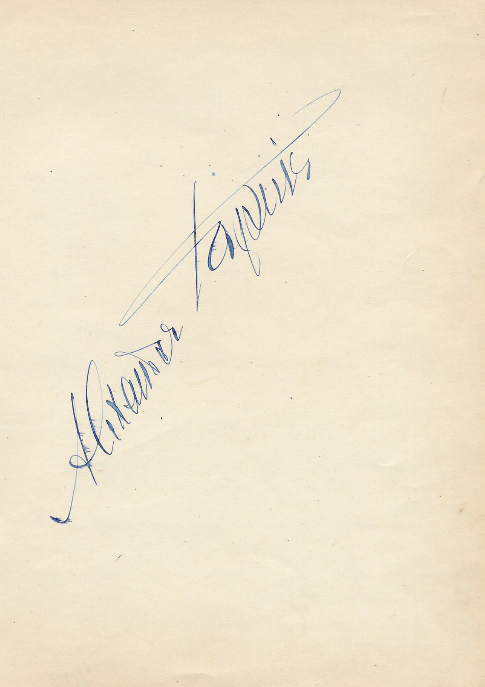 Famed Operatic Bass ALEXANDER KIPNIS  Autograph from 1930s