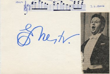 Russian Operatic Bass YEVGENY NESTERENKO Autograph from 1970s