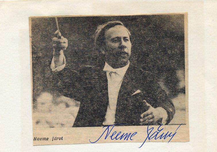 Estonian Conductor NEEME JARVI Autograph from 1975