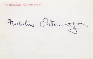 (R) 1948 Athletics Shot Put & Discus Gold MICHELINE OSTERMEYER Autograph 1980s