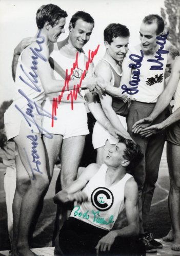 (R) Germany - Track & Field Stars - Multiple Signed Press Photo 5x7