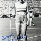 (T) 1948 London Olympics Athletics Javelin Gold HERMA BAUMA Hand Signed Photo 1980s
