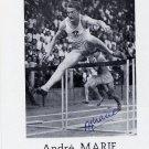 (T) Athletics 1950 ECh 110m Hurdles Gold ANDRE MARIE Autograph 1980s