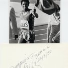 (T) 1984 Athletics 800m Gold JOAQUIM CRUZ Autograph 1990
