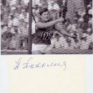 (R) 1952 1st Soviet Olympic Champion Discus WR NINA PONOMARYOVA ROMASHKOVA  Autograph 1980s