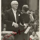 Flutist ELAINE SHAFFER & Conductor EFREM KURTZ Signed Photo 7x9 1960s RARE!
