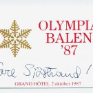 1948 London Athletics 3000m Steeplechase Gold TORE SJÖSTRAND Signed Card 1987