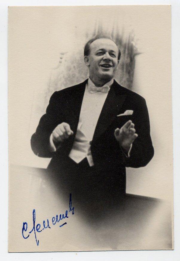 Legendary Russian Tenor SERGEI LEMESHEV Hand Signed Photo from 1964