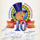 Olympic Speed Skating Champions - 12 Orig Autographs from 1995