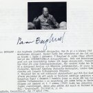 Renowned Finnish Conductor & Violinist PAAVO BERGLUND Orig Autograph from 1990