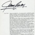 Virtuoso Flute Player JAMES GALWAY Orig Autograph from 1988
