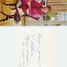 1952 Athletics 100m & 200m Gold MARJORIE JACKSON Autograph 1980s & Pic