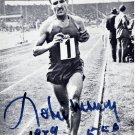 (T) 1956 Melbourne Marathon Champion ALAIN MIMOUN Hand Signed Photo 4x6 from 1989