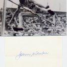1948 London Olympics T&F High Jump Gold JOHN WINTER Orig Autograph 1980s & Pic