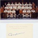 1968 Grenoble Olympics Ice Hockey Bronze RAY CADIEUX Orig Autograph 1980s & Pict