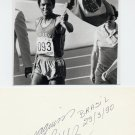 (T) 1984-88 Athletics 800m Gold/Silver JOAQUIM C CRUZ Autograph 1990 & Pic