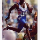 (T) 1992 Barcelona Athletics 100m Gold LINFORD CHRISTIE Signed Photo Card 1980s
