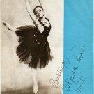 Russian Star Ballerina GABRIELA KOMLEVA Autographed Magazine Picture from 1981